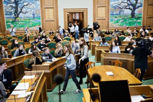 Ungdomsparlamentet i Folketingssalen_II